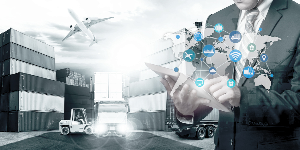Interconnected Industrial IoT Concept