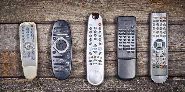 Five Sample Remote Controllers
