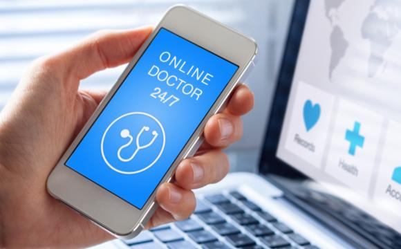 Smartphone showing mobile online doctor