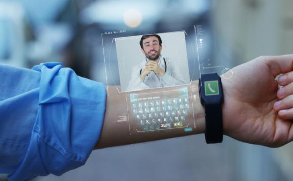 Smartwatch Technology Concept on Wrist