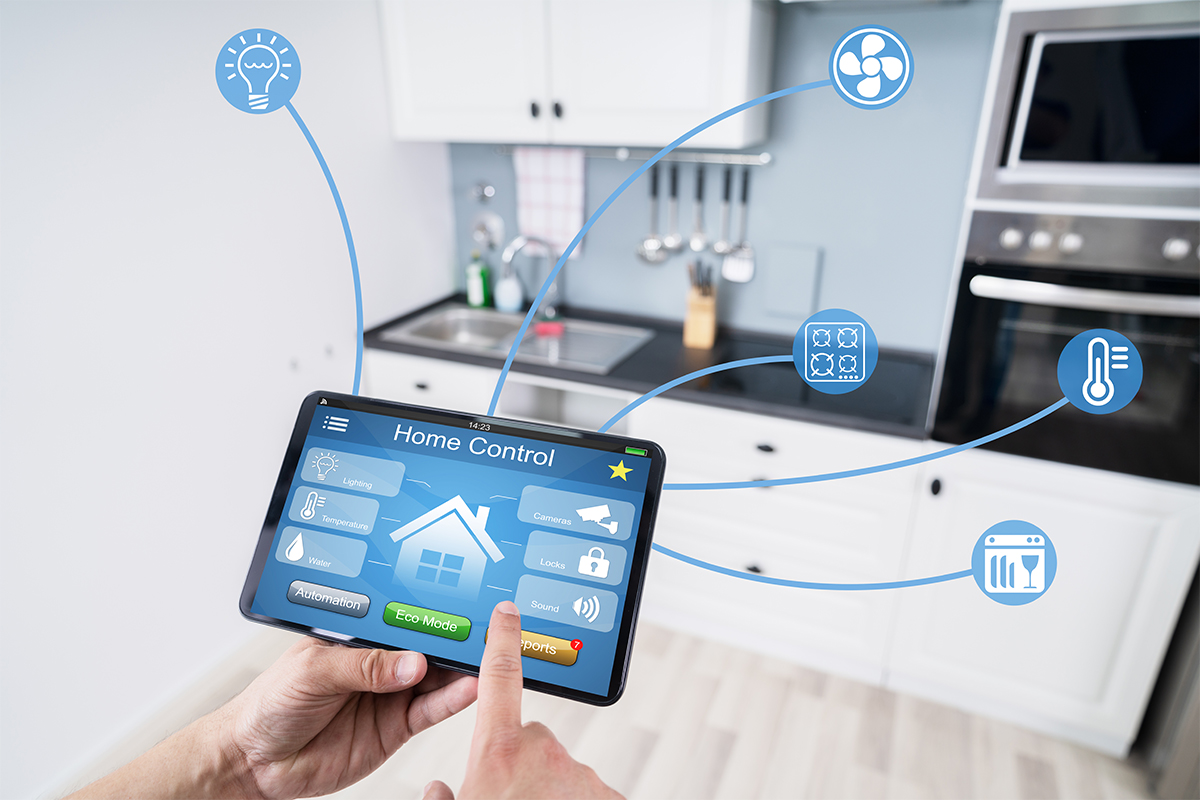 Close-up,Of,A,Person's,Hand,Using,Smart,Home,Application,On