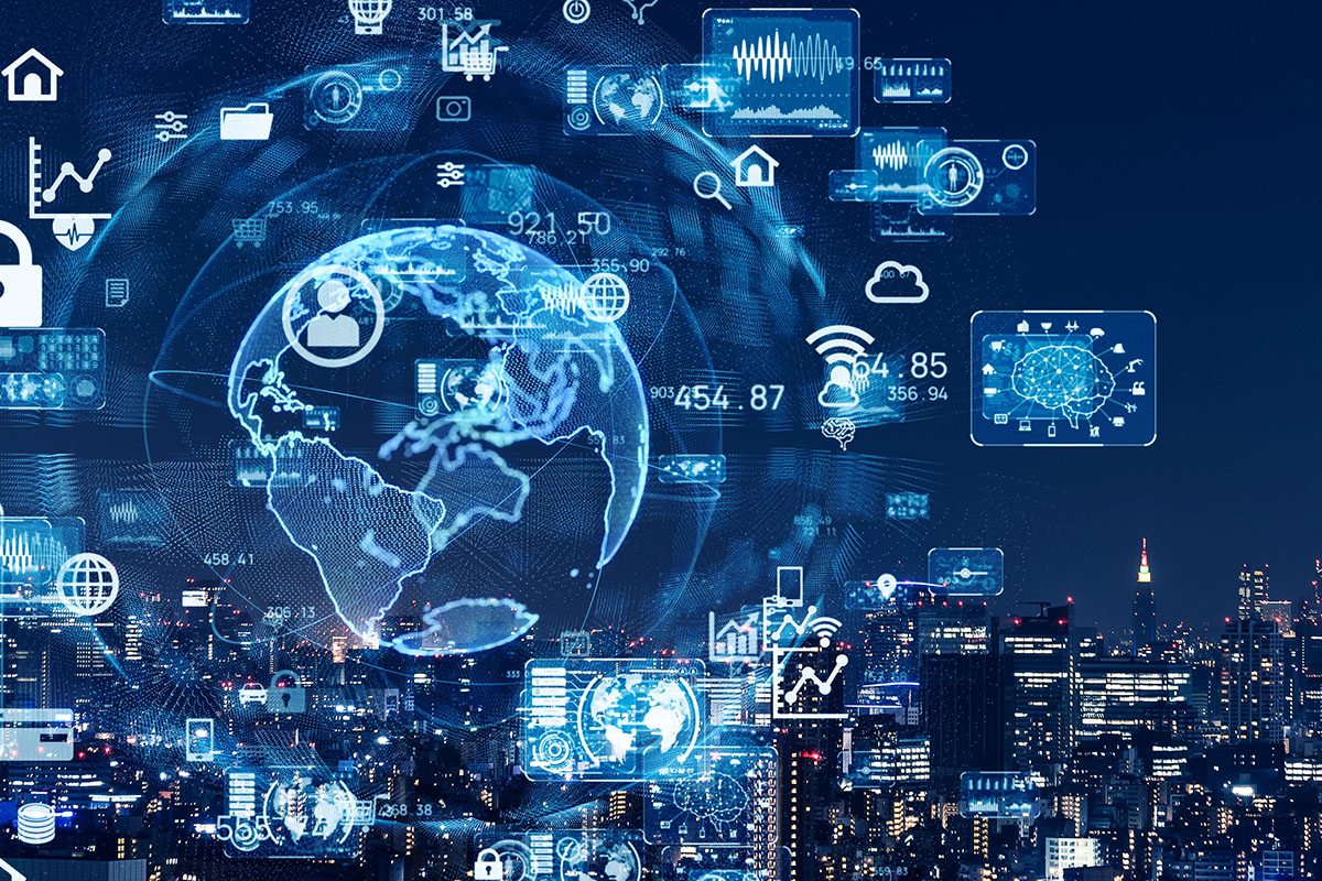 smart city and communications network concept