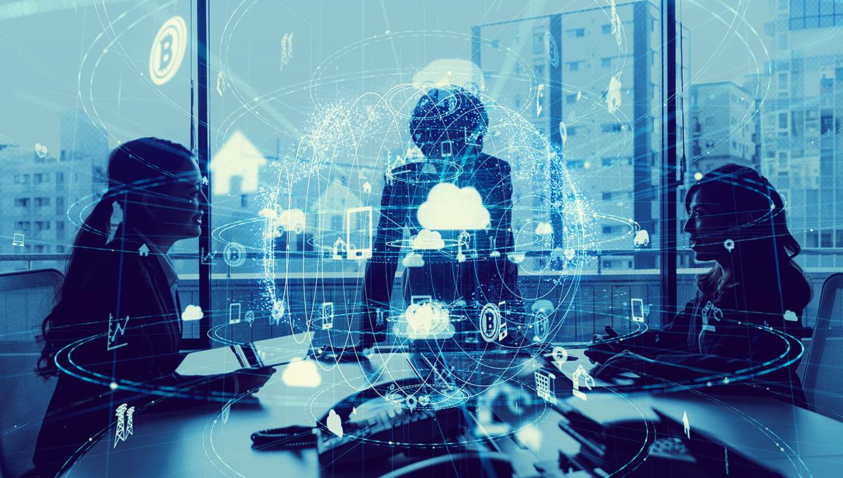 smart building technology concept
